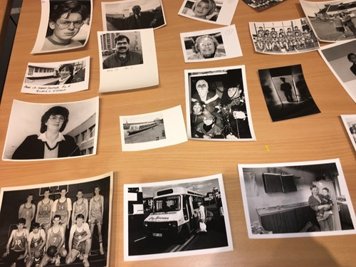 Old photos of Wester Hailes residents - part of the SLIC Archive Event exhibition in Wester Hailes