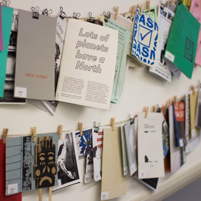 Image of the Glasgow School Of Art Zine Collection, a project funded by SLIC.